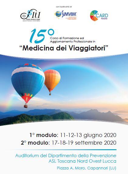 """15° Corso di Formazione ed Aggiornamento Professionale in """"Medicina dei Viaggiatori"""""""
