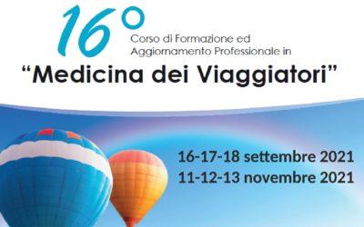 """16° Corso di Formazione ed Aggiornamento Professionale in """"Medicina dei Viaggiatori"""""""