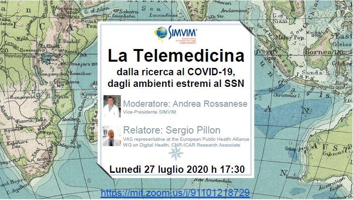 La Telemedicina: dalla ricerca al COVID-19, dagli ambienti estremi al SSN.